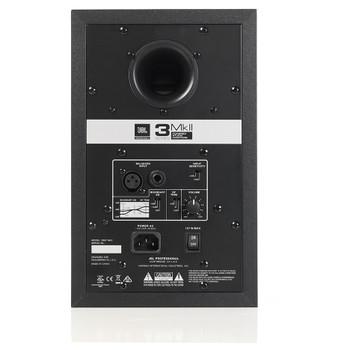 "JBL 305P MkII Powered 5"" Two-Way Studio Monitor back view"