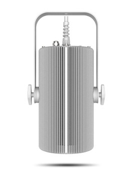 CHAUVET PRO OVATIONH265WWWHT Convection Cooled House Light Warm White, White Fixture front view showing yoke for mounting