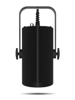 CHAUVET PRO OVATIONH605BLK Full Color LED (RGBAL) Convection Cooled House Light front view of black fixture
