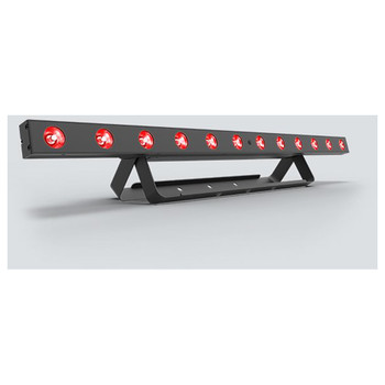 CHAUVET COLORband T3BT full-size linear wash light with built-in Bluetooth technology front/left view with red lights