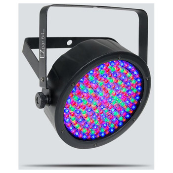 CHAUVET EZpar 64 RGBA battery-powered wash light with rechargeable lithium-ion battery front/left angle