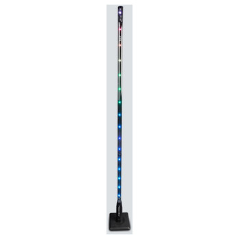 CHAUVET Freedom Stick battery powered free-standing RGB LED side view with multi-color lights illuminated