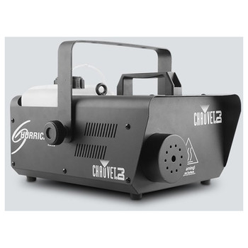 CHAUVET Hurricane 1600 Compact, lightweight, high output fog machine with DMX control front/left view of entire machine black