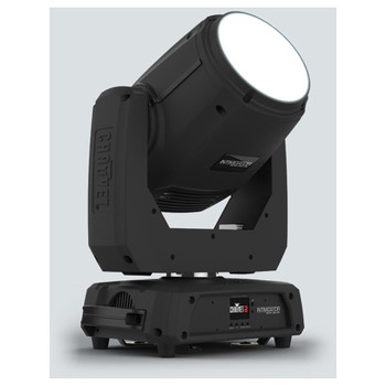 CHAUVET Intimidator Beam 355 IRC Feature-packed moving head beam fitted with a 100W LED front/left view with white light facing upwards