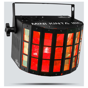 CHAUVET Mini Kinta IRC Compact LED effect light with 3 W LEDs front/left view with red lights