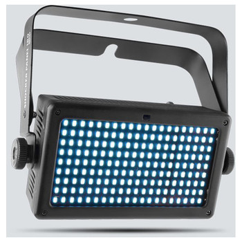 CHAUVET Shocker Panel 180 USB high-impact LED strobe light with four zones of control front/left view with lights illuminated