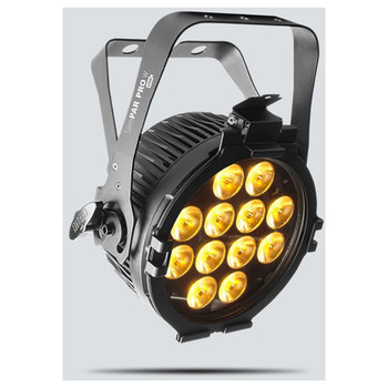 CHAUVET SlimPAR Pro W USB variable white LED washlight front left with amber on