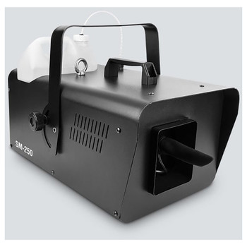 CHAUVET Snow Machine front/left view showing handle, fluid container, and snow output area