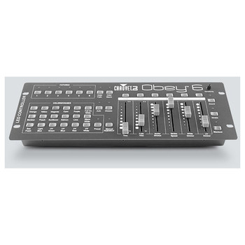 CHAUVET Obey 6 Universal compact DMX-512 controller ideal for LED fixtures top view showing all controls