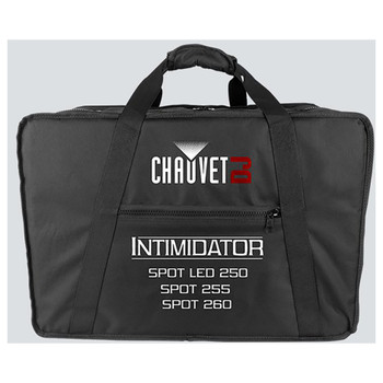 CHAUVET VIP Carry Bag Fits: (x2) Intim Spot 250, 255, 260 direct front view black bag with handle