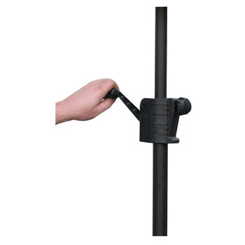 Black Speaker Crank Extension Pole ASCE42 overview of crank extension pole