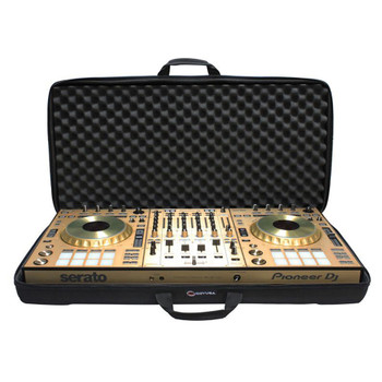 EXTRA LARGE Size DJ Controller / Utility EVA Molded Universal Carrying Bag BMSLDJCXL open bag with equipment inside