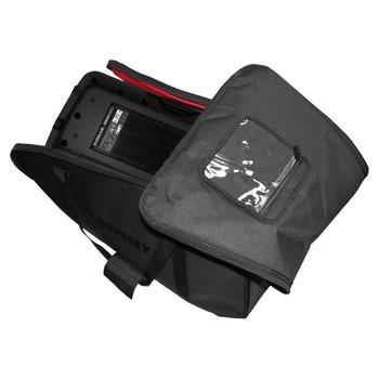 Large Size Carrying Bag for 15″ Molded Speakers BRLSPKLG unzipped bag with speaker inside