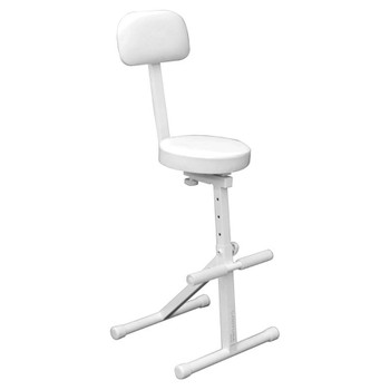 White Height Adjustable Chair for DJ DJCHAIRWHT side angle of chair