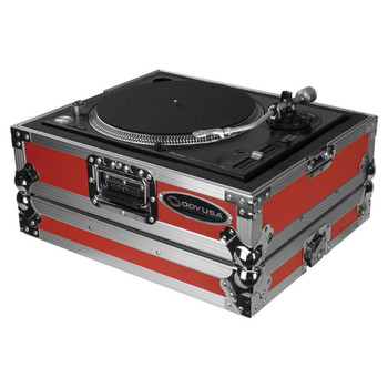 Odyssey Universal Red Turntable Case FTTXRED open case front/side view