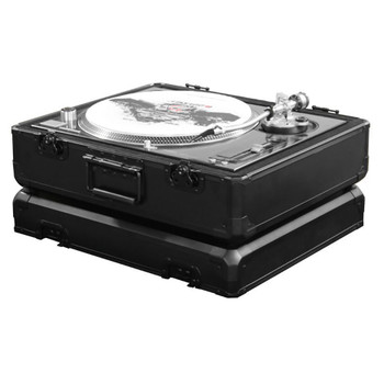 KROM Series Black Universal Turntable Carrying Case K1200BL open case