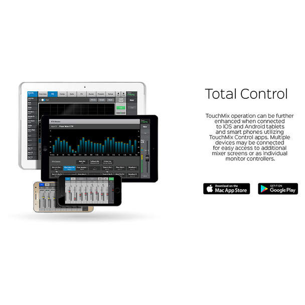 QSC TouchMix 30 Pro Touch Screen Digital Audio Mixer software example