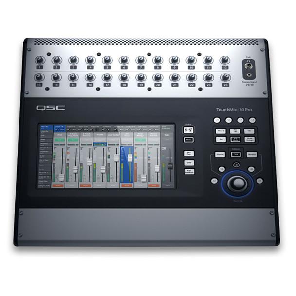 QSC TouchMix 30 Pro Touch Screen Digital Audio Mixer top view