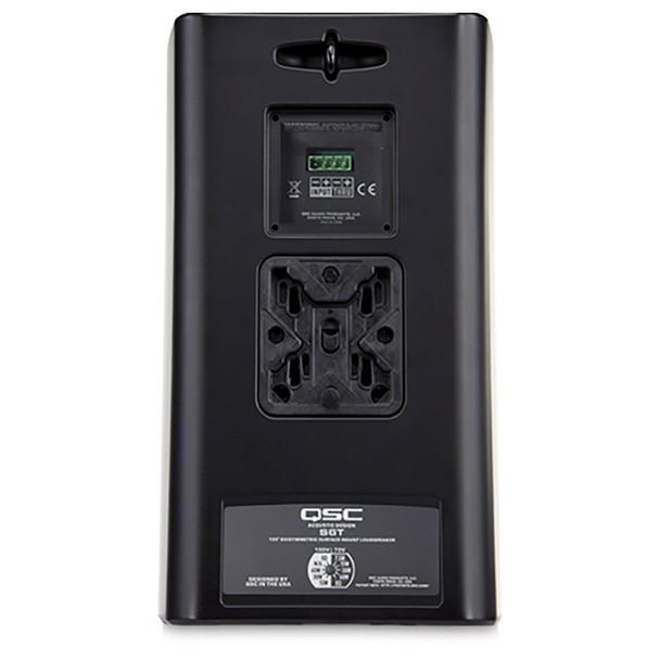 QSC AD S6T BK 6.5 inch Two way black speaker transformer back. EMI Audio