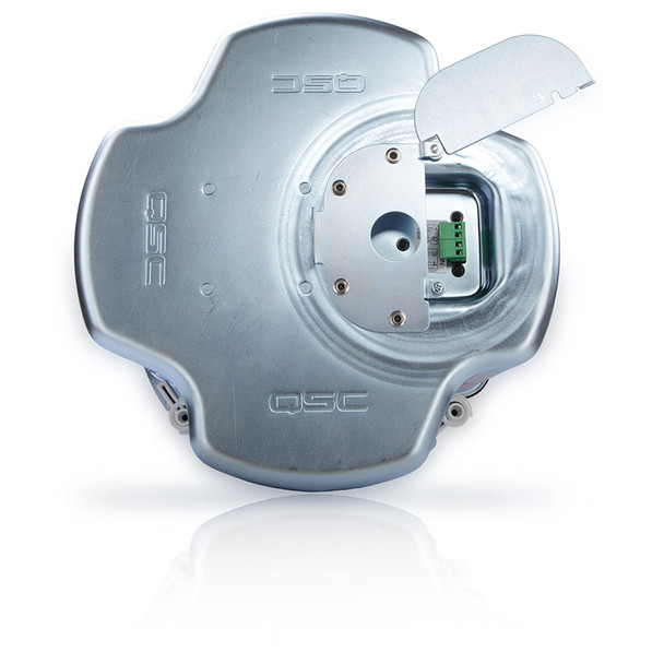 QSC AD C821R SYSTEM 8 inch round High power blind mount coaxial ceiling speaker back view. EMI Audio