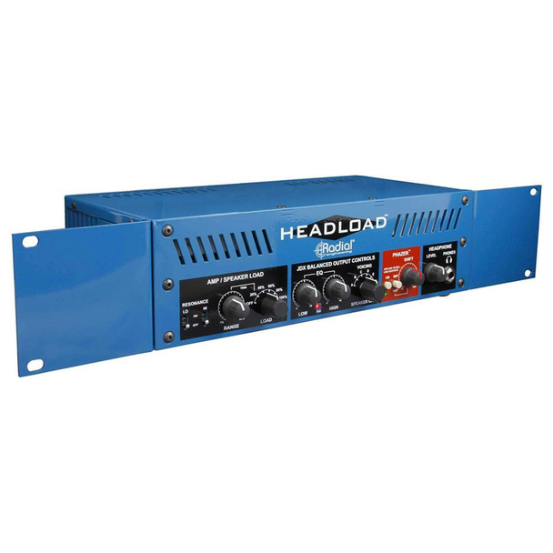 "HL19-RA Rack adaptor for Headload V4, V8 & V16 - holds 1 unit in two 19"" rack spaces. shown with Headload"