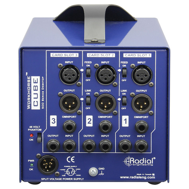 Cube 3 slot power-rack, desktop format, 500mA power supply
