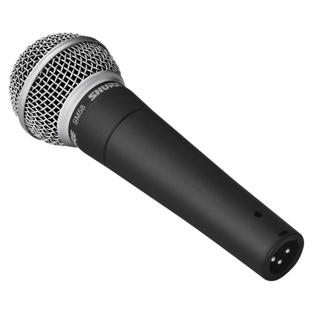 SHURE SM58 S with switch angled view. EMI Audio