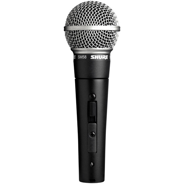 SHURE SM58 S with switch front view EMI Audio