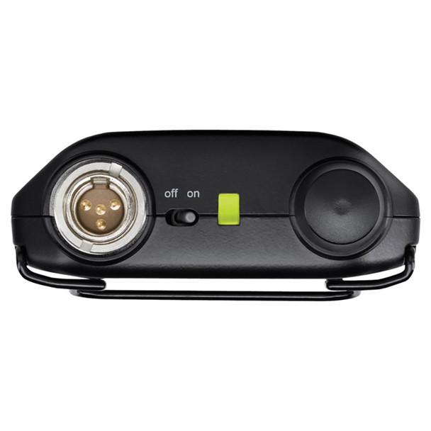 SHURE GLXD1-Z2 Wireless Bodypack Transmitter top view. EMI Audio