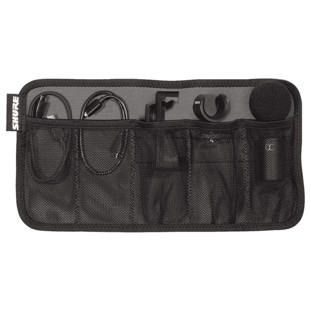 SHURE MV88+ VIDEO KIT carrying case open showing compartments