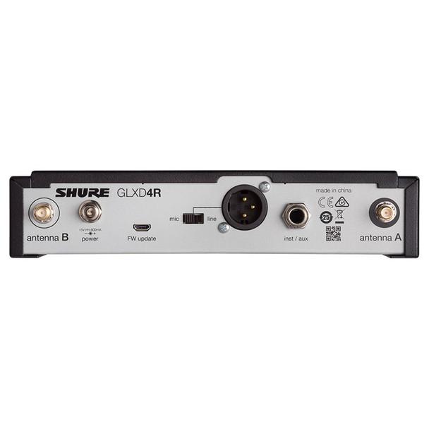 SHURE GLXD4R-Z2 GLXD4R WIRELESS RECEIVER back. EMI Audio