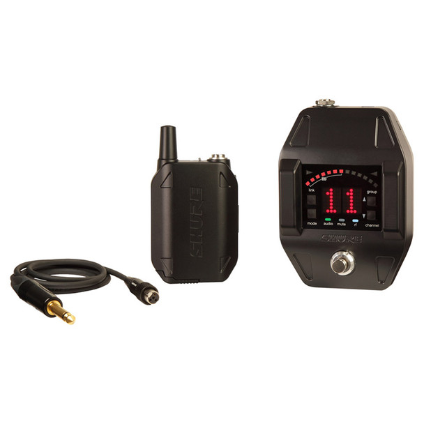 SHURE GLXD16-Z2 Guitar Pedal System with GLXD6 Wireless Guitar Pedal, GLXD1 Bodypack Transmitter, WA305 Guitar Cable (SB902 Battery included). EMI Audio