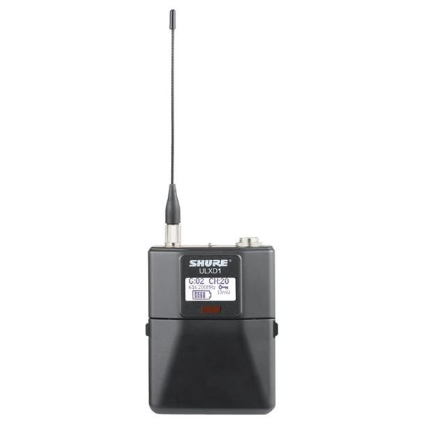 SHURE ULXD1LEMO3 Digital Wireless Bodypack Transmitter with LEMO3 Connector. EMI Audio