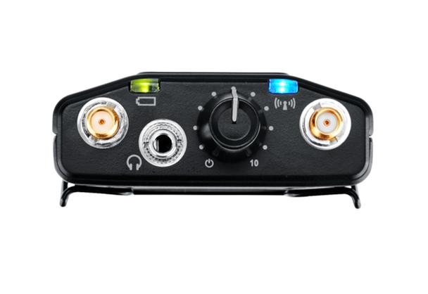 SHURE P10R Diversity Bodypack Receiver top view. EMI Audio