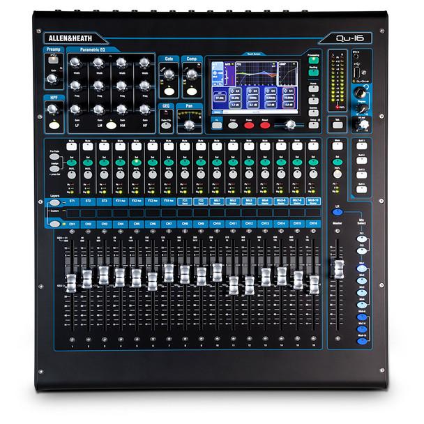 ALLEN & HEATH QU-16C 16 channel rack mount digital mixer top view