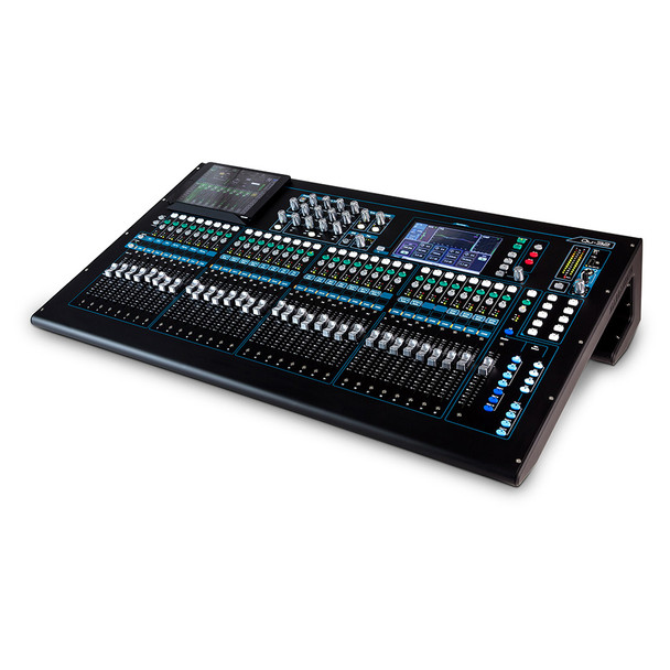 "ALLEN & HEATH QU-32C 32 channel digital mixer, 32 Mic/Line + 3 stereo  100mm motorized faders, 24  mix outputs, 4 FX Engines, onboard 18 track recording, built in 32ch USB I/O, built in dSNAKE, Network Port, 7"" Touch screen"