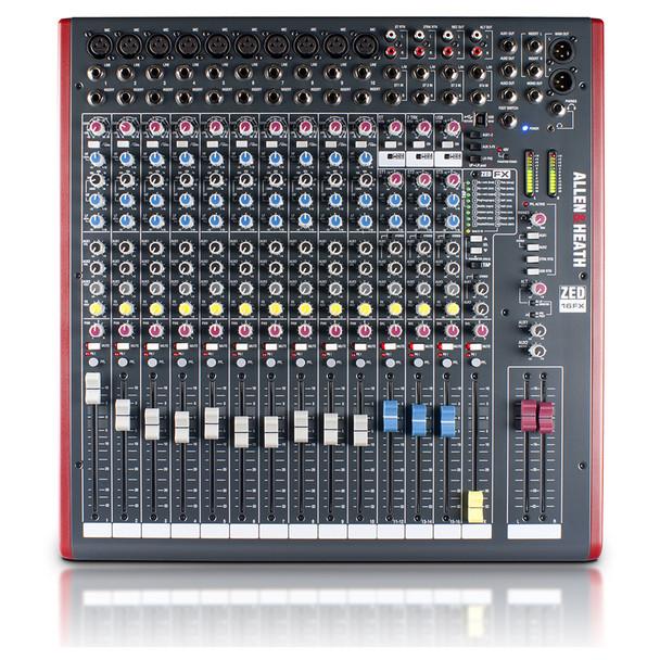 ALLEN & HEATH ZED16FX 10 Mono Mic/Line mixer top view