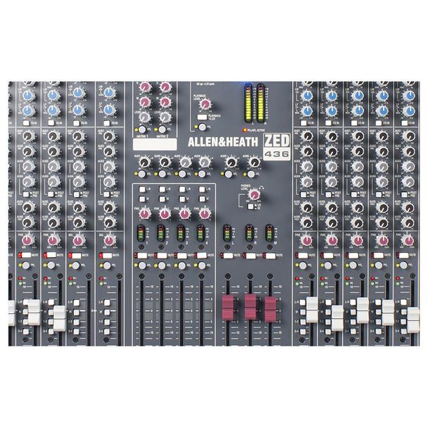 ALLEN & HEATH ZED436 4-Buss Mixer 32 Mic/Line mixer close up