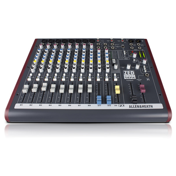 ALLEN & HEATH ZED60-14FX 8 Mono Mic/Line mixer front view