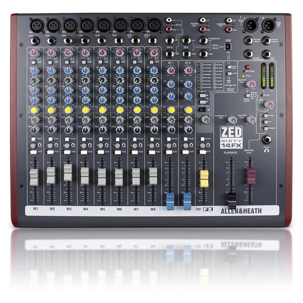 ALLEN & HEATH ZED60-14FX 8 Mono Mic/Line mixer top view