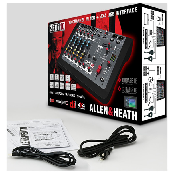 ALLEN & HEATH ZEDI10 4 Mic/Line 2 mixer box