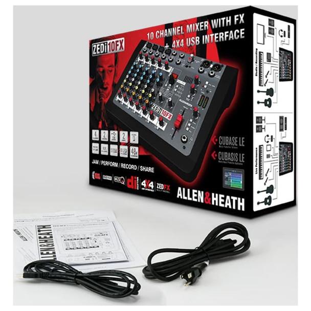 ALLEN & HEATH ZEDI10FX 4 Mic/Line 2 with Active DI, 2 Stereo Inputs box view