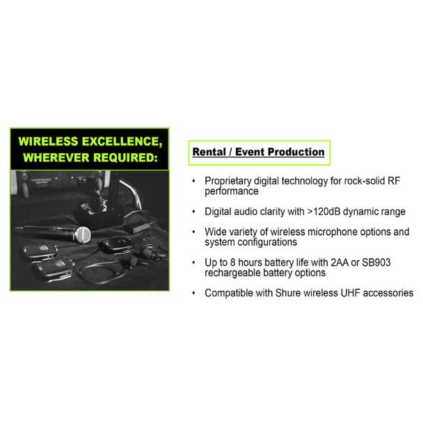 SHURE SLXD rental/production ad. EMI Audio