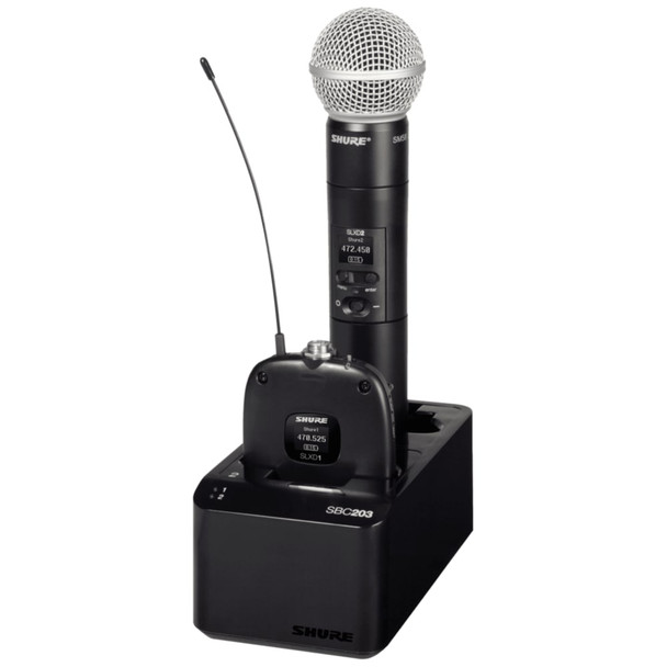 Shure-SBC203-lapel-handheld-Recharging-Station