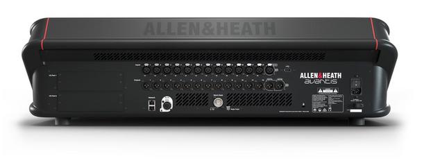 ALLEN & HEATH AVANTIS 96kHz FPGA processing, 64 Input Channels back view