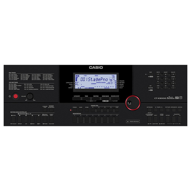 CASIO CT-X3000 Portable Keyboard control [anel. EMI Audio