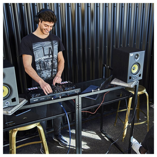 DJ using a Hercules DJControl Inpulse 500 2-Channel DJ Controller