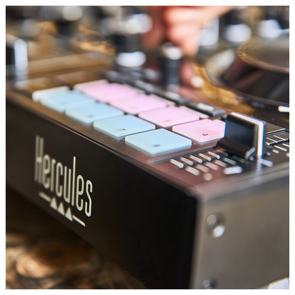 Close up of Hercules DJControl Inpulse 500 2-Channel DJ Controller