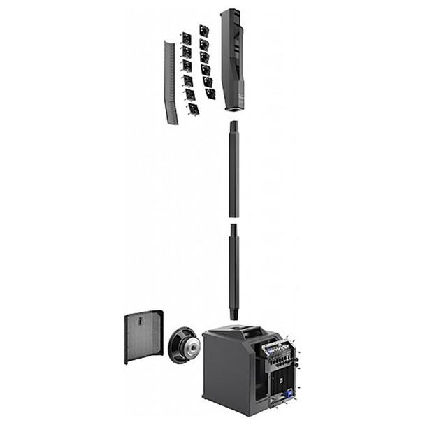 EV EVOLVE 30M Portable Powered Column Speaker System showing modular array separation