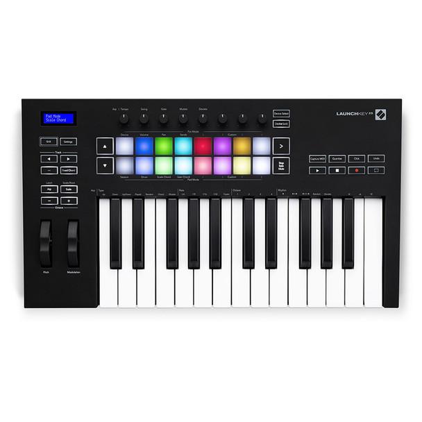 Launchkey 25 [MK3] MIDI controller keyboard overhead center view